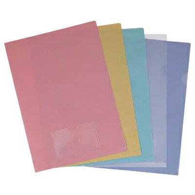 【文具通】連勤E315PP粉彩文件夾附名片袋藍 L1020322