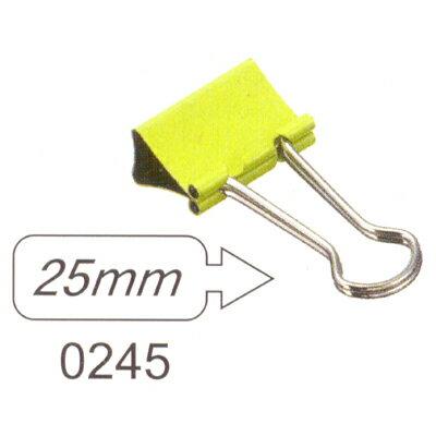【文具通】SDI 手牌 順德 長尾夾 燕尾夾 彩色 0245T 25mm 1盒72支裝 L1090019