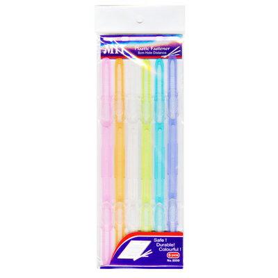 文具通OA物流網:【文具通】袋入果凍塑膠原子夾6支入L1100017