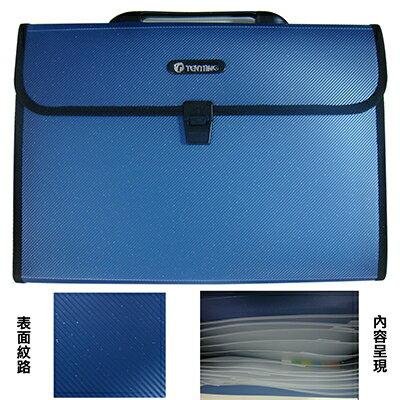 【文具通】B4珍珠色系12層手提分類包風琴夾KDFC12HL1180004