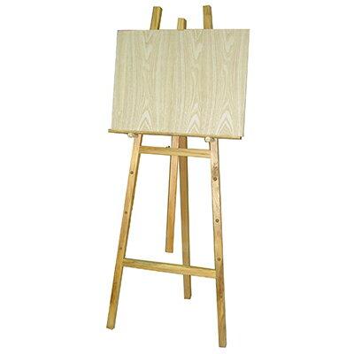 【文具通】高級 5尺 約150cm 原木 室內 畫架 不含畫板需另購 每組皆附插銷可調整畫板高低 L3010088