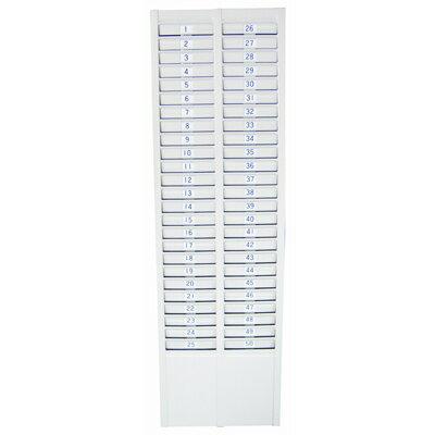 文具通OA物流網:【文具通】高級烤漆50人份考勤卡匣卡鐘卡片夾打卡夾約730x225mm僅適用大卡約8.5x19cmL3010173L3010173