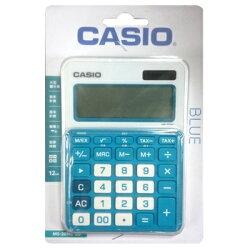 【文具通】CASIO 卡西歐 MS-20NC-BU 12位 計算機 藍 L5140212