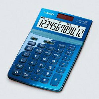【文具通】CASIO 卡西歐 JW-200TW-BU Stylish 就是要時尚 面板可掀 12位數 電子 計算機 藍 L5140219