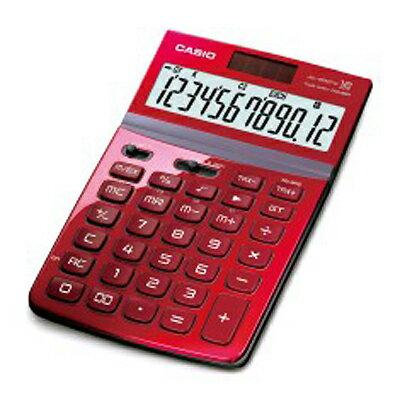 【文具通】CASIO卡西歐JW-200TW-RDStylish就是要時尚面板可掀12位數電子計算機紅L5140222