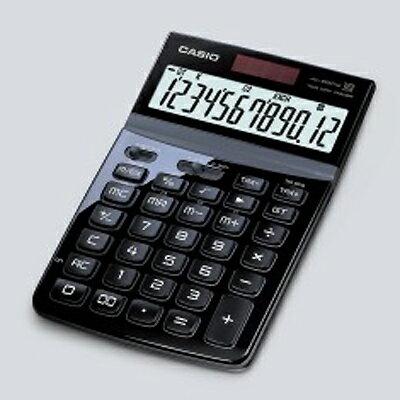 【文具通】CASIO卡西歐JW-200TW-BKStylish就是要時尚面板可掀12位數電子計算機黑L5140223