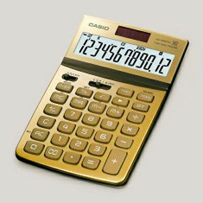 【文具通】CASIO JW-200TW-GD Stylish就是要時尚面板可掀12位數電子計算機金 L5140224