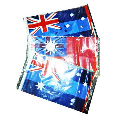 【文具通】佈置用旗 萬國旗 塑膠 串旗 12尺 約340公分 出貨國旗為隨機 M8010008