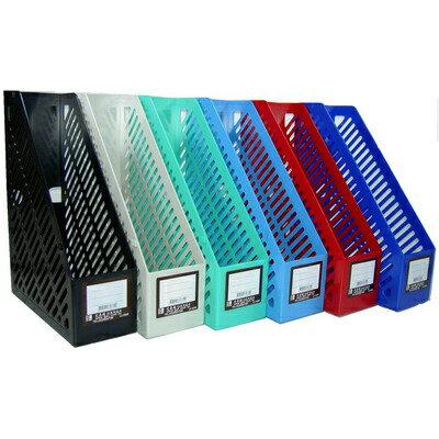 【文具通】文具通3160一體成型雜誌箱[黑] N1010106
