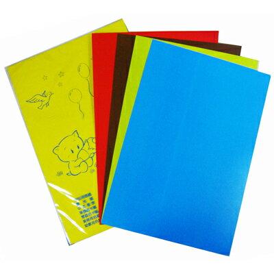 【文具通】4k袋入雙色西卡紙5ps P1140027