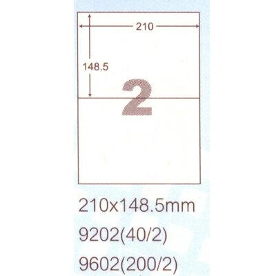 【文具通】阿波羅9202影印自黏標籤貼紙2格210x149mm P1410029