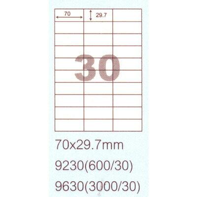 【文具通】阿波羅9230影印自黏標籤貼紙30格70x29.7mm P1410153