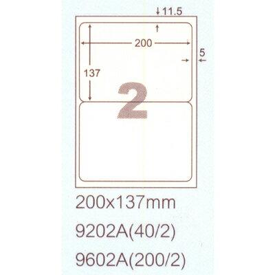 【文具通】阿波羅9202A影印自黏標籤貼紙2格切圓角200x137mm P1410159