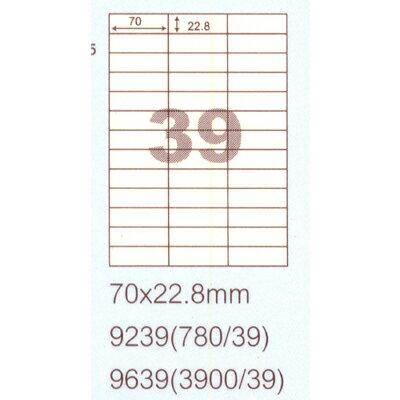 【文具通】阿波羅9639影印自黏標籤貼紙39格70x22.8mm 100入 P1410216