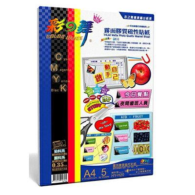 【文具通】Color-Dance 彩之舞 霧面膠質磁性貼紙 –防水 HY–H20 A4 P1410631