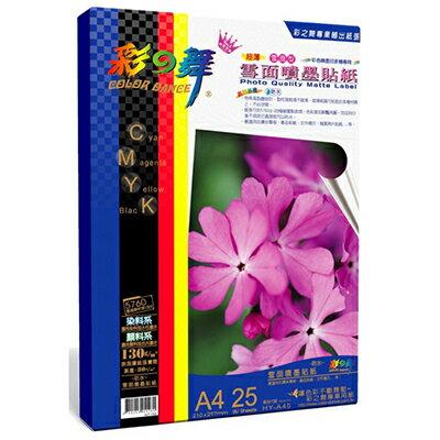 【文具通】Color-Dance 彩之舞 雪面噴墨貼紙–防水 HY–A45 A4 P1410637