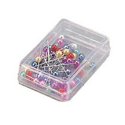 【文具通】Life 徠福NO.2196日本彩色珠針 含珠40mm/45支入 P2050011
