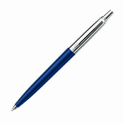 【文具通】PARKER派克JOTTER記事系列-藍色鋼質白夾原子筆PK-P0033180