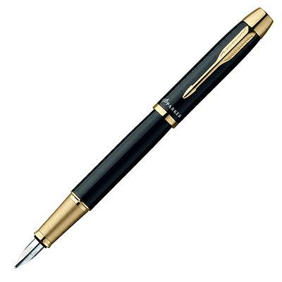 【文具通】PARKER 派克 PARKER IM 經典系列-麗黑金夾鋼筆/F PK-P0855990