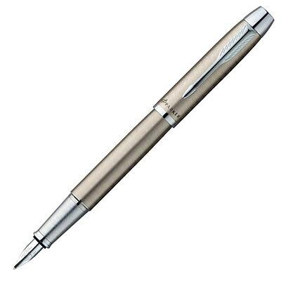 【文具通】PARKER 派克 PARKER IM 經典系列-鋼桿白夾鋼筆/F PK-P0856020