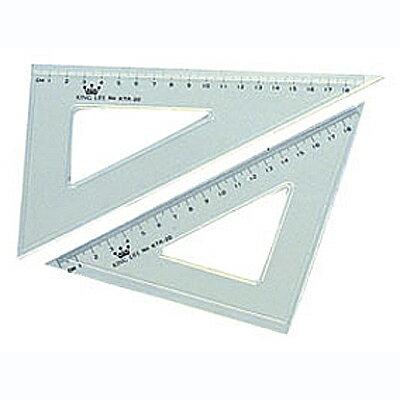 【文具通】Life 徠福KTR-20塑膠三角板20cm Q1090004