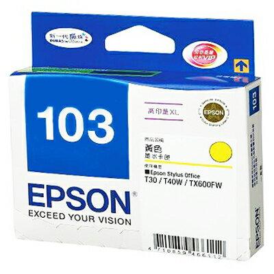 【文具通】EPSON T103450 墨水匣.黃NO.103 R1010507