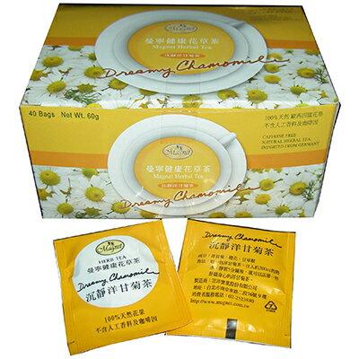 【文具通】Magnet 曼寧 洋甘菊茶包 1.5gx40入 目前庫存有效期限至 2019/03/07 SY000002