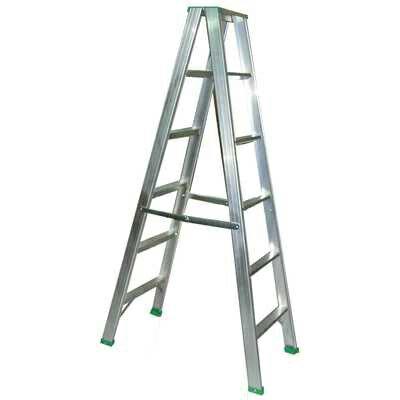 【文具通】4尺 約120cm 三層 三階 加重 厚鋁梯 T3010189