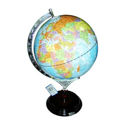 【文具通】木質底座地球儀12吋45cm W3010006