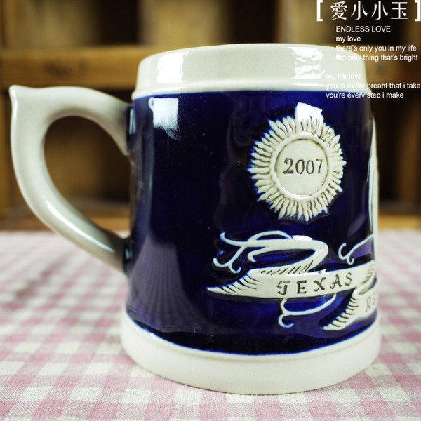 【德國啤酒杯-紅龍】時尚陶瓷馬克杯經典創意個性可愛
