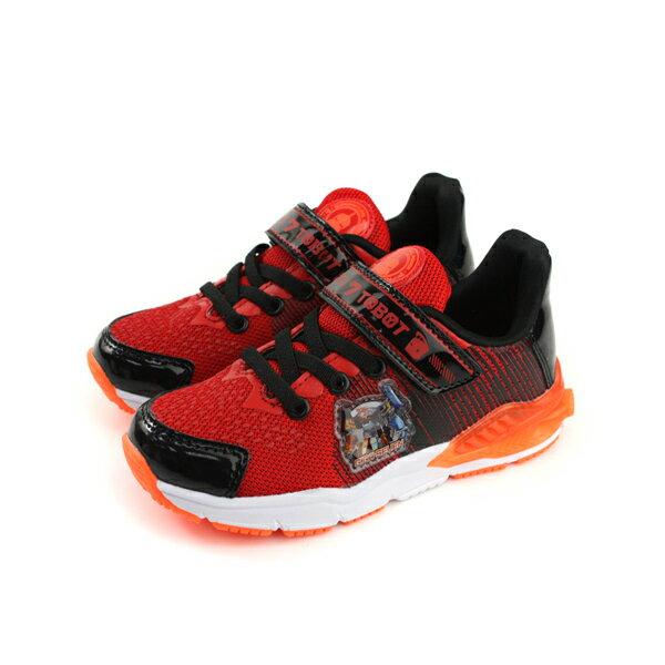 機器戰士TOBOT托寶兄弟運動鞋電燈鞋紅色中童童鞋TOKX76352no635