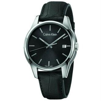 CK 品格系列(K7K411C1)簡約日曆時尚腕錶/黑面44.1mm