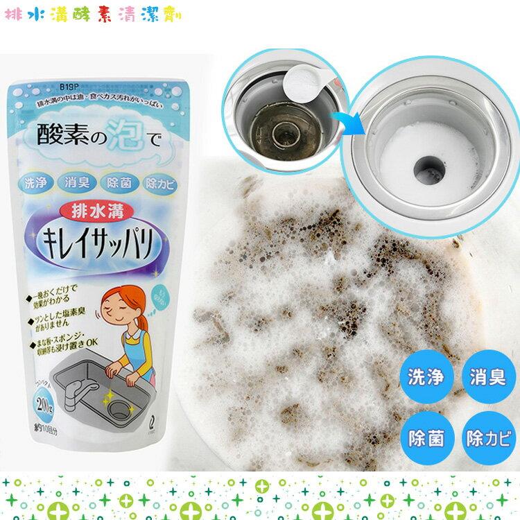 ARNEST 日本製 排水溝 排水孔 排水管 水槽 酵素發泡水管清潔劑 浴室 衛浴 廚房 200g 日本進口正版 766508