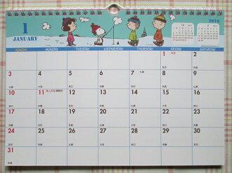 【真愛日本】15091800047 16線圈月曆-SN釣魚綠 2016 萬年曆 行事曆 桌曆 史奴比 Snoopy