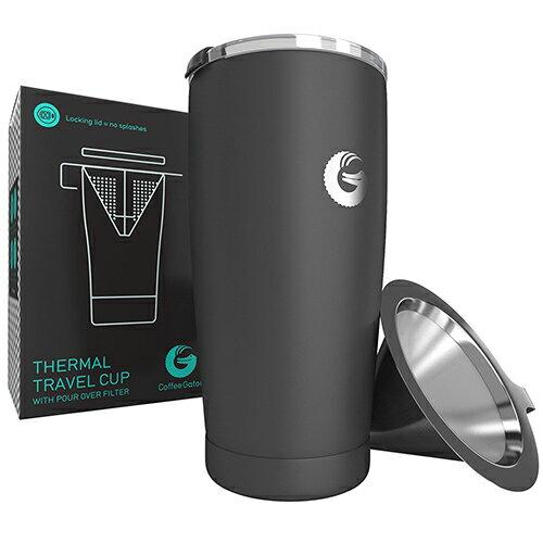 【美國代購】Coffee Gator 不銹鋼濾網 旅行款 手沖咖啡壺 17oz (1杯容量)