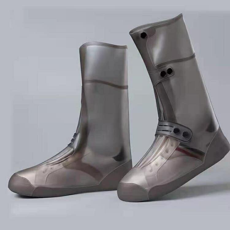 雨鞋 成人時尚高筒硅膠雨鞋套雨天男女防水防滑戶外騎行加厚耐磨防雨靴 果果輕時尚