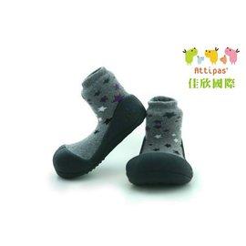 【淘氣寶寶】韓國【Attipas】快樂腳襪型學步鞋-黑底星空L