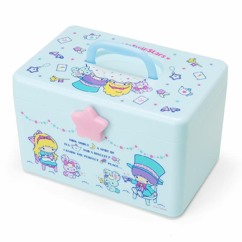 【真愛日本】4901610645321 手提收納箱-TS+ABD 三麗鷗家族 Kikilala 雙子星 雙層 置物箱