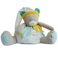 彌月禮盒推薦Doudou 白黃綠藍熊抱抱布偶 (40cm)