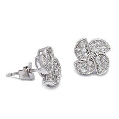 ~925純銀耳環鑲鑽耳飾~大方 耀眼迷人母親節生日情人節 女飾品73dm266~ ~~米蘭