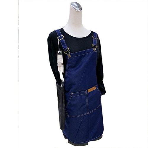 牛仔布口袋圍裙61X69cm(藍) [大買家] 5
