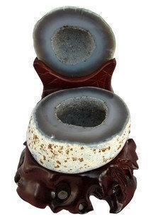 白水晶聚寶盆擺件1.7kg水晶瑪瑙聚寶盆水晶洞