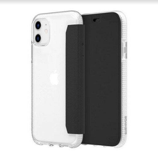 Griffin Survivor Clear Wallet iPhone 11 透明背套防摔側翻皮套 [當日配]