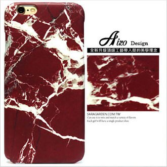 3D感 高清 大理石 酒紅 爆裂紋 iPhone 6 6S Plus 手機殼 硬殼 保護殼 磨砂殼 AIZO Design【C0826017】