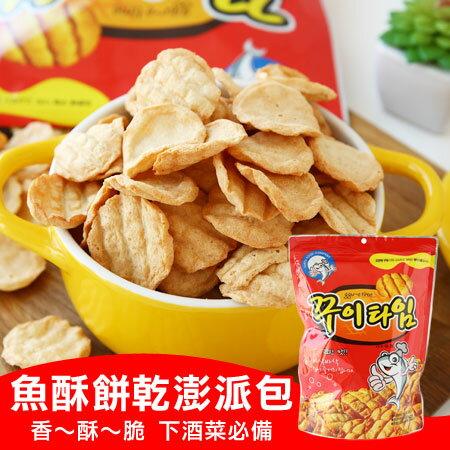 韓國 EARTH FOOD 魚酥餅乾澎派包 150g 魚酥餅乾 魚片 烤魚片 香脆魚片 餅