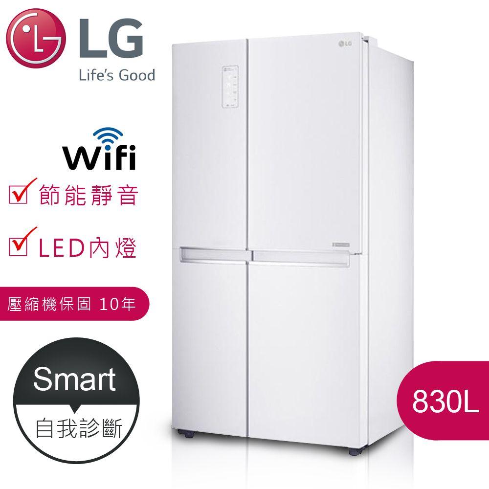 【LG樂金】 門中門對開冰箱(WIFI遠控版)830L(GR-DL80W)