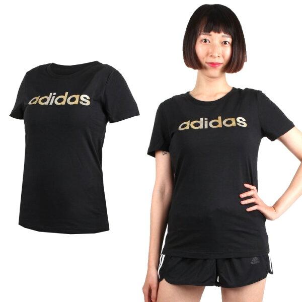 ADIDAS女短袖T恤(短T短袖上衣慢跑路跑愛迪達【03312902】≡排汗專家≡