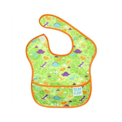美國【Bumkins】兒童防水圍兜 -恐龍 BKS-109 (6-24個月) - 限時優惠好康折扣