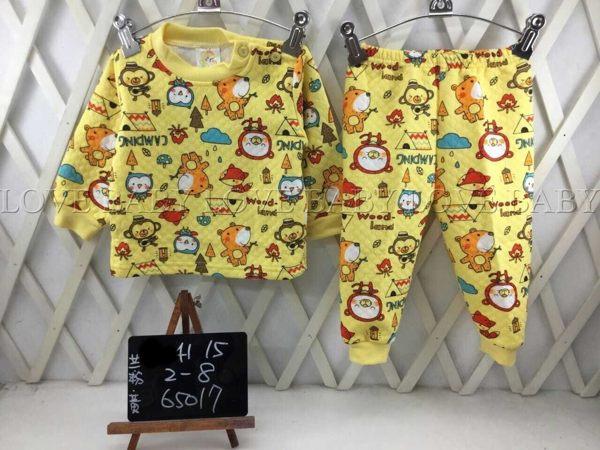 ☆╮寶貝丹童裝╭☆ 可愛 圖案 造型 透氣 舒適 男女寶寶 上衣+小褲 長袖 套裝 新款 ☆