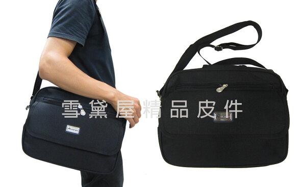 ~雪黛屋~HaiBo提肩背中容量二層主袋防水尼龍布手提肩背斜側背外出休閒隨身工作上班上學男女全齡適用H929